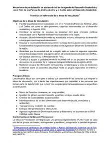 Portada Mecanismo de participación de sociedad civil en la Agenda de Desarrollo Sostenible y en el Foro de los Países de América Latina