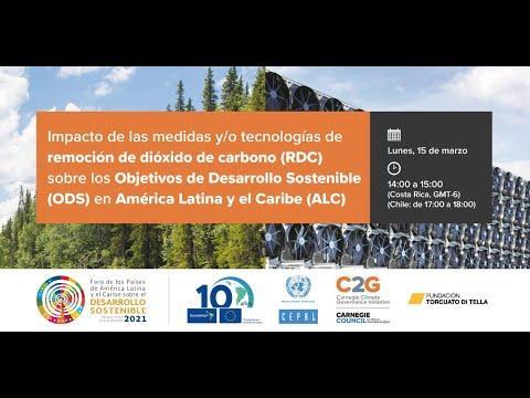 Embedded thumbnail for Impacto de las medidas y tecnologías de remoción de CO2 sobre los ODS en América Latina y el Caribe